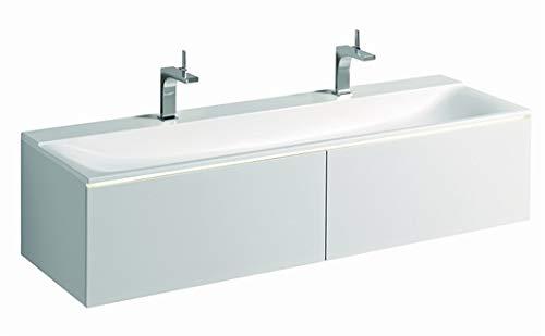 Keramag Xeno 2 Waschtisch, mit 2 Hahnlöchern und ohne Überlauf, 160x48cm, Weiss, 500279001