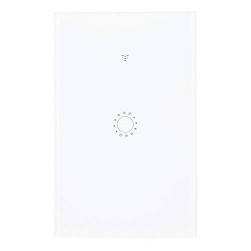 Tomanbery Interruptor de luz de Pared Inteligente Interruptor de Control de Voz Interruptor de luz LED Conveniente y Duradero Asistente de Google(BAI GAI 1 Road (2030815))