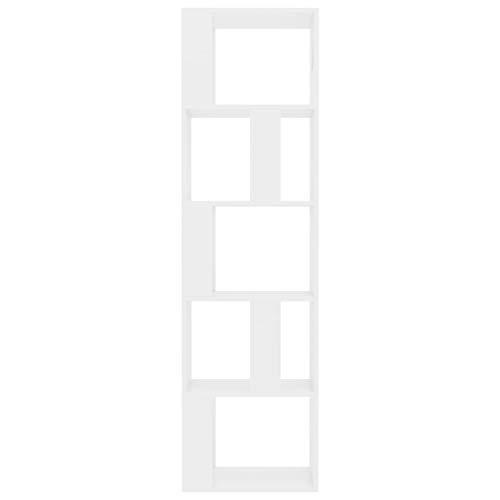 Kstyhome Estanterías Cubos estanterías de Madera Blanca estanterías de Almacenamiento Muebles de Sala de Estar 45x24x159 cm tableros de partículas