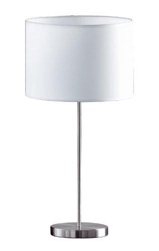 Honsel Leuchten Loft 56611 - Lamparilla moderna metálica con pantalla blanca
