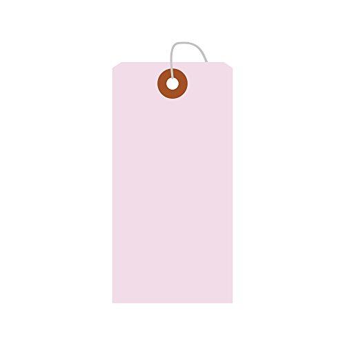 タカ印 タグ 25-2122 カラー荷札 中 一穴 100枚 桃
