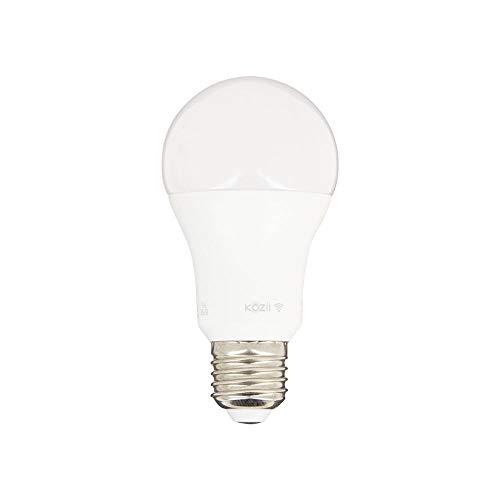Juego de 2 bombillas LED E27 A60 SMD, conectadas Alexa, Google Home con regulador de intensidad – 9 W Cons (60 W Eq) – para oficina, dormitorio, sala de estar, cuarto de baño – opaco