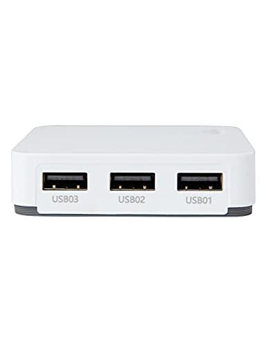 LOYALTY-SECU Serveur d'impression USB 3 Ports WiFi pour Plusieurs imprimantes USB Blanc