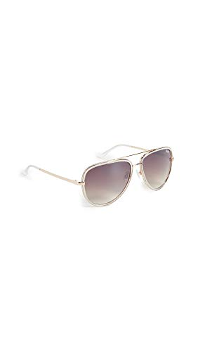 Quay Women's All In Sunglasses, Clear/Silver, One Size