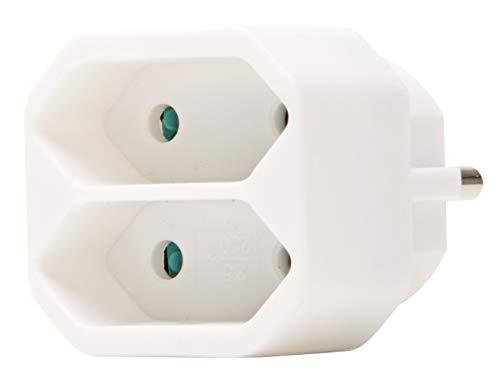 Kopp Euro 2-fach Stecker mit Kindersicherung, Weiß