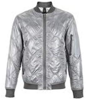 Fashion/Men/Clothing/Outerwear/Coats Men's Jacket Silver Jacket Jacket Cotton Jacket Casual Joker Jacket Long Sleeve Jacket Men's Spring Jacket Joker Collar, Baseball Collar Design