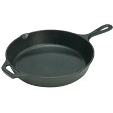 Lodge Seasoned Cast Iron Skillet - 12 Inch Ergonomic Frying Pan with Assist Handle