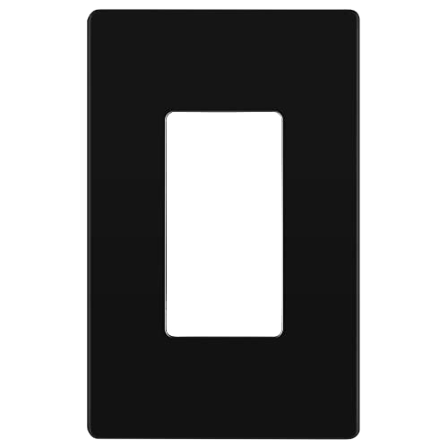 ENERLITES Rêve Collection Luxury Decorator Switch Cover, Screwless Wall Plate, Matte Finish, Mid-Size 1-Gang 4.88