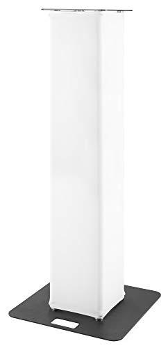 beamZ P30 Truss Tower, Beleuchtungsturm, Höhe: 1,5 m, Basisplatte: 60 x 60 cm, Turmplatte: 35 x 35 cm, Rohrgestell aus Aluminium & Stahl, Lycra-Bespannung, weiß