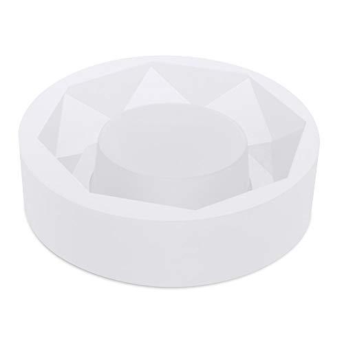Gobesty Molde de resina de cenicero, molde de fundición de silicona molde de resina Espejo completo Molde de cenicero de bricolaje resina epoxi Molde de pastel hecho a mano de resina artesanal