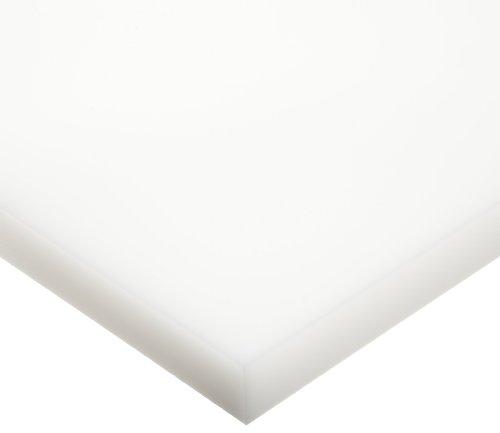 UHMW (Ultra High Molecular Weight Polyethylene) Sheet, Opaque White, Standard Tolerance, ASTM D4020, 1/4' Thickness, 12' Width, 24' Length