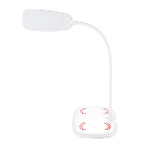 Liangsujiantd Flexo Led Escritorio, Cargador inalámbrico LED lámpara de Escritorio táctil Interruptor de cabecera de Lectura de luz 110-220V Brillo estupendo 18 LED lámpara de Mesa