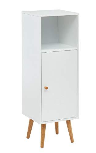 PEGANE Colonne de Rangement Salle de Bain Coloris Blanc - 30 x 29.5 x 90 cm