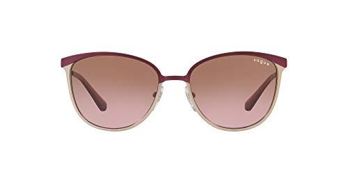 Vogue Vo4002s Gafas, Morado Mate/Plata Cepillada/Rosa Degradado Marrón, 57 para Mujer
