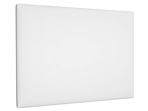 LA WEB DEL COLCHON - Cabecero tapizado Paros para Cama de 210 (220 x 120 cms) Blanco Polipiel | Cama Juvenil | Cama Matrimonio | Cabezal Cama |