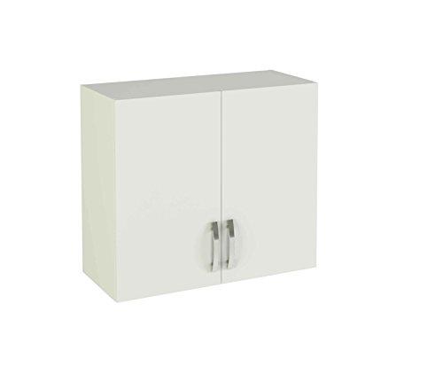ambiato Lucia Küche Hängeschrank 2-türig 80x70 cm Weiß Oberschrank Wandschrank Küchenschrank Melamindekor