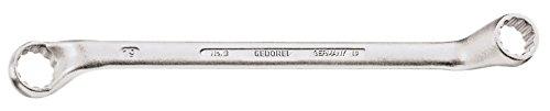 GEDORE 2 34x36 Doppelringschlüssel, tief gekröpft, geschmiedet, Ring dünnwanding und 5° abgewinkelt mit UD-Profil, DIN 838, 34x36 mm