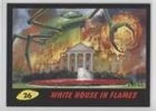 White House in Flames #14/55 (Trading Card) 2017 Topps Mars Attacks: The Revenge - [Base] - Black #26