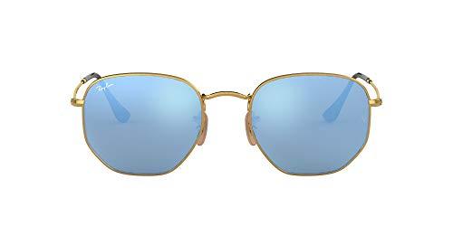 Living Edition GmbH [Apparel Ray-Ban Unisex Rb 3548n Sonnenbrille, Gold (Gestell: Gold,Gläser: leichtes blau 001/9O), Small (Herstellergröße: 48)
