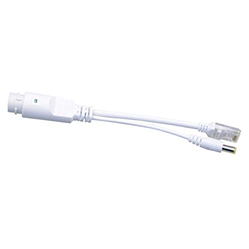 perfk Active PoE Power Over Ethernet Adaptador Divisor A Prueba De Agua 24V A 12V 2A, Cumple con IEEE 802.3af Divisor PoE De 10 / 100Mbps con Salida De 12V