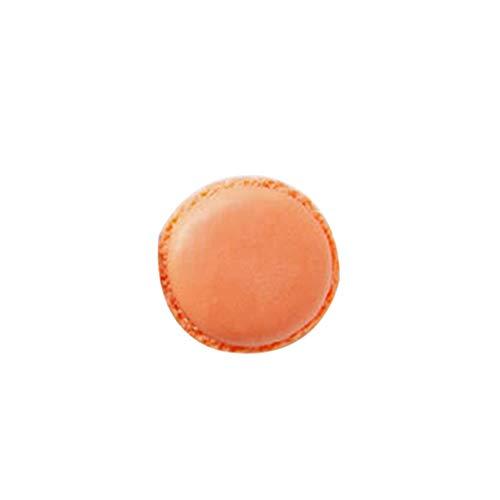 bismarckber Mini-Geschenkbox in Makronenform, für Halsketten, Armbänder, Ringe, Polypropylen, Orange, Einheitsgröße