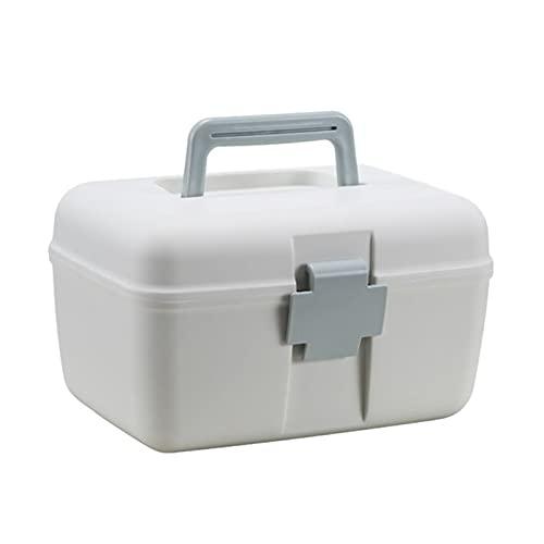 Caja médica Cable de gran capacidad portátil Caja de cacahuete Caja de doble capa Caja de salud Hogar de la familia Titular de medicamentos Organizador de almacenamiento Motor de primeros auxilios