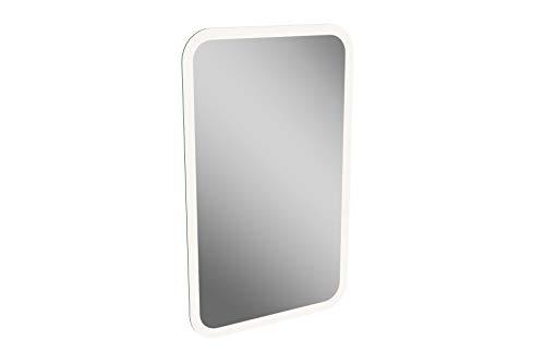FACKELMANN LED Spiegel/Wandspiegelelement mit umlaufender LED-Beleuchtung/Maße (B x H x T): ca. 45 x 73 x 3 cm/hochwertiger Spiegel/moderner Badezimmerspiegel/Breite 45 cm