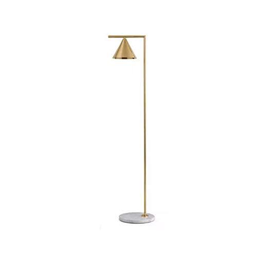 JSJJAJN Interior Moderna Oro nórdico Negro lámpara de Piso de la Sala Ins Dormitorio de mármol de pie de iluminación E27 posmoderno lámpara de Piso (Lampshade Color : Gold)