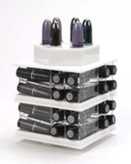 Zahra beauty Mini Spinning Lipstick Towers- Acrylic Lipstick Holders are Available.Patent Pending (Mini Classy White)