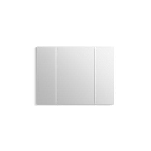 """KOHLER K-99011-SCF-NA Aluminum Verdera Medicine Cabinet with Adjustable flip-Out Flat Mirror, 40"""" W x 30"""" H"""