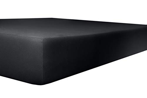Kneer kwaliteit 93 exclusieve stretch hoeslaken kleur 80 onyx, grootte 200x190-200x240