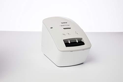 Brother QL-600G Grau Etikettendrucker (USB-Schnittstelle, Barcodedruck, automatische Schneideeinheit)