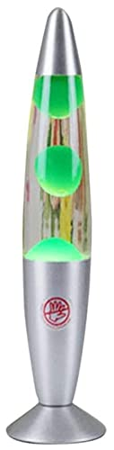 Lavalamp Bombilla Luz Lumal Luz Magmal Luz Retro Lámpara Lava Luminaria Motion Rock Light Retro Light Deco Lámpara, para decoración en Diferentes Ocasiones (Color : Grün)