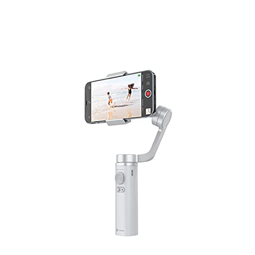 XJST Stabilizzatore Gimbal A 3 Assi per Smartphone, Selfie Stick Stabilizzatore Gimbal, con modalità Sport Object Object Tracking Time-Lapse, per Youtuber/Vlogger,Silver Gray