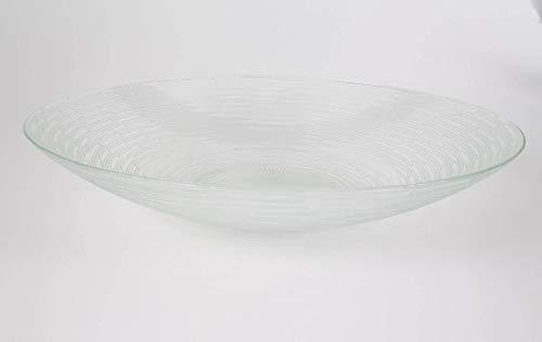 INNA-Glas Glasschüssel - Schale Linus, rund, klar, 8cm, Ø 40cm - Obstschale - Dessertschale