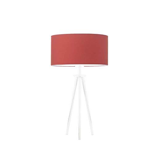 Lámpara de mesa ALTA pantalla de lámpara Rojo Marco Blanco
