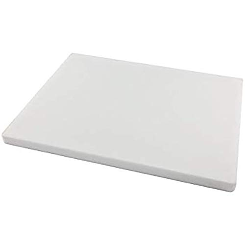 UHMW-PE - Lámina de polietileno de alta densidad de 10 mm, color blanco translúcido natural, 300 mm x 300 mm x 10 mm, grado A PE 500