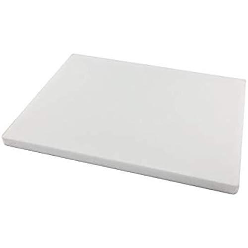 Hoja de polietileno de alta densidad de 10 mm, color blanco translúcido natural, 300 mm x 300 mm x 10 mm, grado A, PE 500