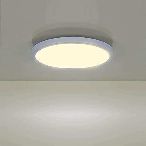 LED Lámpara de Techo 18W 4500K, Leelike Cuadrado Plafon LED Techo Modern 1620LM Plafón Led para baño Dormitorio Cocina Sala de estar Comedor Balcón Pasillo Oficina