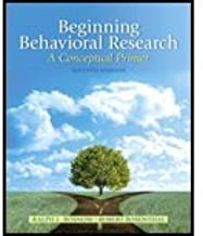 Beginning Behavioral Research by Rosnow, Ralph L., Rosenthal, Robert. (Pearson,2012) [Hardcover] 7th Edition