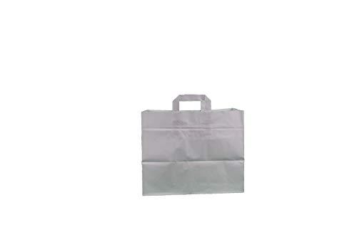 Papiertragetasche 32+22x27cm weiß Größe 50 Stück