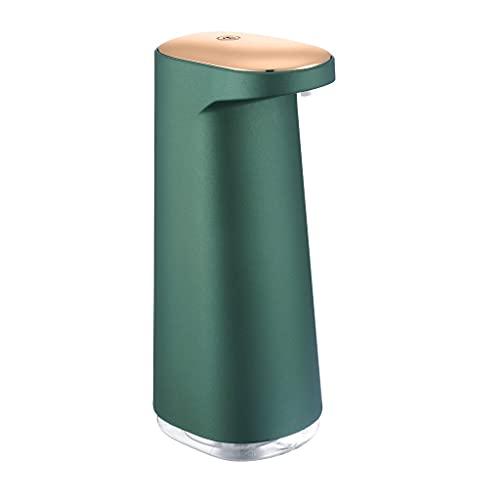 TEETLE Dispensador Jabón 15.2Amneciones Sensor Automático Mousse Espuma Dispensador de jabón para el hogar Dispositivo de Lavado de Manos Inteligente Gratis USB (Color : Green)