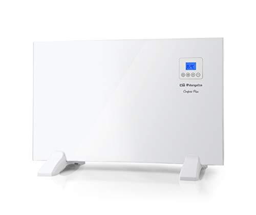 Orbegozo REH 1000 Panel Radiante, Mando a Distancia, Pantalla LCD, Control Táctil, Termostato Digital, Programable 24/7, 1000 W