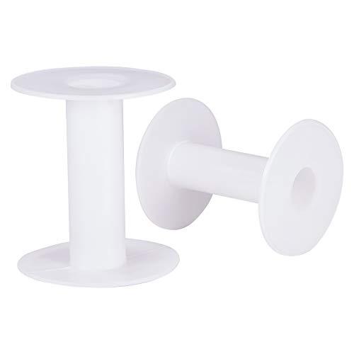 PandaHall 20 carretes de plástico vacíos de 7,62 cm para manualidades, cuerda de alambre, cuerda de alambre