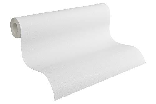 A.S. Création überstreichbare Vliestapete Meistervlies Tapete 10,05 m x 0,53 m weiß rissüberbrückend formstabil glasfaserfrei Made in Germany 311016 3110-16