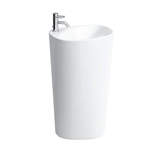 Laufen Palomba Waschtisch freistehend, ohne Hahnloch, ohne Überlauf, 520x395x900, Farbe: Weiß mit LCC