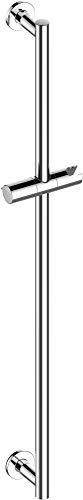 KEUCO IXMO Brause-Stange hochglanz-verchromt, 85,5 cm lang mit Handbrausehalter, verstellbare Höhe und Neigung, runde Rosetten, Wandmontage