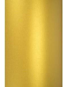 Netuno 10x Perlmutt-Gold 120g Papier DIN A4 210x297 mm Aster Metallic Cherish Papier Gold glänzend Effekt-Papier Glanzpapier Metallic Pearl Papier Gold Papier