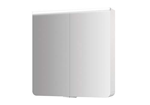 Jokey spiegelkast Xanto Line MDF-hout in de kleur wit met verlichting