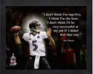 Gerahmtes Foto mit Zitaten von Joe Flacco Baltimore Ravens Pro (Größe: 22,9 x 27,9 cm)